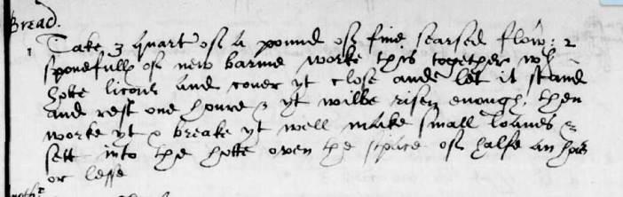 Manusript recipe by TT in Sir Hugh Plat's manusript book